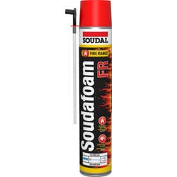 SOUDAL FIRE FR RED EXPANDING FOAM 750ML