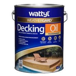 WATTYL DECKING OIL NATURAL 10L