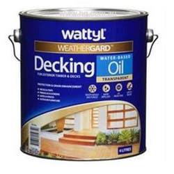 WATTYL DECKING OIL W/ BASE NATURAL 4L