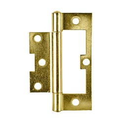 HINGE 100MM NON MORTICE F/P POL BRS CARD