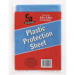 DROP SHEET PLASTIC  H/DUTY  2.6X3.6M