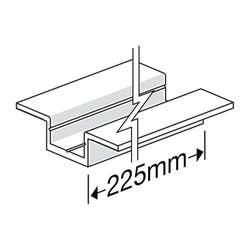 HARDIEDECK DOUBLE WINGED BASE JOINTER & SCREW 225MM