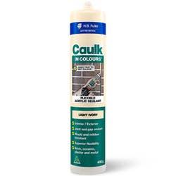 CAULK IN COLOURS LIGHT IVORY 450G