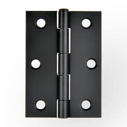 HINGE BUTT 85X60X1.6MM L/PIN BLACK