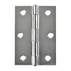HINGE 85MM BUTT L/PIN CHROME PLATED