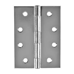 HINGE 100MM  BUTT L/PIN CHROME PLATED