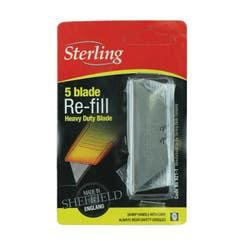 HEAVY DUTY STERLING KNIFE BLADES  5PK