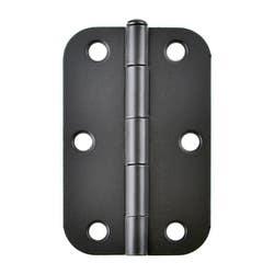 HINGE RADIUS BUTT 89X57X1.6MM L/PIN BLACK