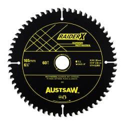 AUSTSAW RAIDERX ALUMINIUM MULTI MATERIAL BLADE 165X 20 X 60T