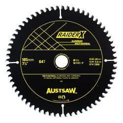 AUSTSAW RAIDERX ALUMINIUM MULTI MATERIAL BLADE 185X 20 X 64T