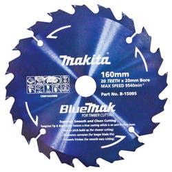 MAKITA BLUEMAK SAW BLADE 160X20X20T