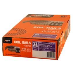 COILMASTER NAIL 32X2.5MM SHEG V/PACK BOX 2400