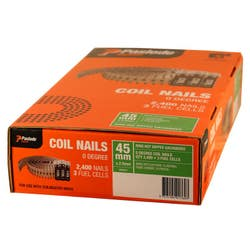 COILMASTER NAIL 45X2.5MM RING HDG V/PACK BOX 2400