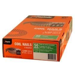COILMASTER NAIL 50X2.5MM RING HDG V/PACK BOX 2400