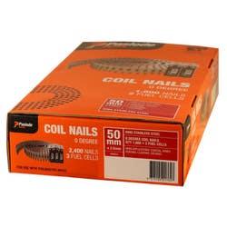 COILMASTER NAIL 50X2.5MM RING SS V/PACK BOX 1800