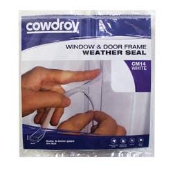 DOOR/WINDOW SEAL CM14 9X6X5M WHITE