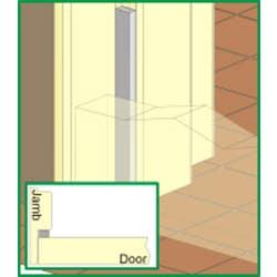 DOOR/WINDOW SEAL CM14 9X6X5M GREY