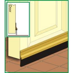 DOOR SEAL CM2A BRUSH STRIP 915MM CLEAR