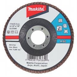 FLAP DISC  ALUM OXIDE 115 X 22.23 60G
