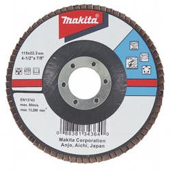 FLAP DISC ALUM OXIDE 115 X 22.23 80G