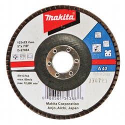 FLAP DISC ALUM OXIDE 125 X 22.23 40G