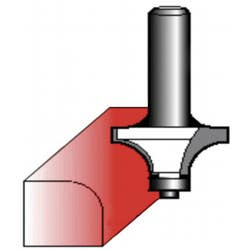 ROUTER BIT 12.7MM ROUNDING OVER 6.35