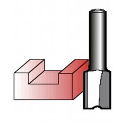 ROUTER BIT 6MM STRAIGHT 6.35
