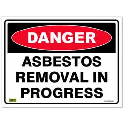 SAFETY SIGN DAN/ASBESTOS REMOVAL 600X450