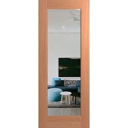 DOOR HUME BUDGET 1 LITE 2040X820X40 CLR