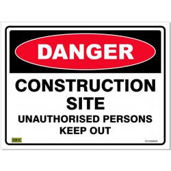 SAFETY SIGN DANG/CONS. SITE 600X450