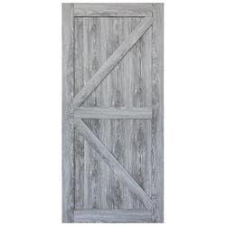 HUME DOORS FRONTIER BARN DOOR FBDRG4 RUSTIC GRY 2150X1000X35