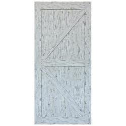 HUME DOORS FRONTIER BARN DOOR FBDRW4 RUSTIC WHT 2150X1000X35