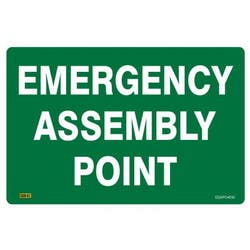 SAFETY SIGN EMERG ASSEMBLY POINT 450X300
