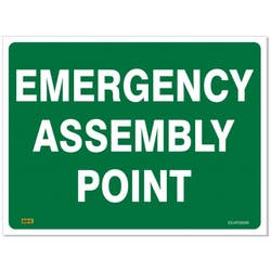 SAFETY SIGN EMERG ASSEMBLY POINT 600X450