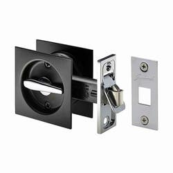 CAVITY DOOR LOCK SQUARE PRIVACY MATT/BL