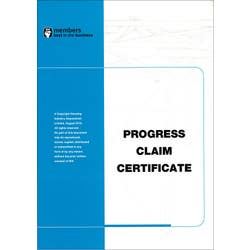 PROGRESS CLAIM CERTIFICATE (PAD OF 25)