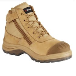 KING GEE ZIP SAFETY BOOT 27100 SIZE 9.5