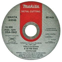 METAL CUT OFF WHEEL 115 X 2.5 X 22.2