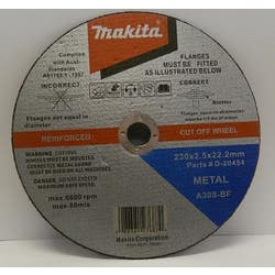 METAL CUT OFF WHEEL 230 X 2.5 X 22.2