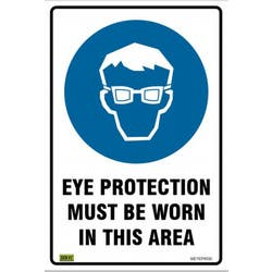 SAFETY SIGN EYE PROTECTION 450X300