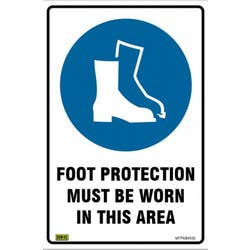 SAFETY SIGN FOOT PROTECTION 450X300