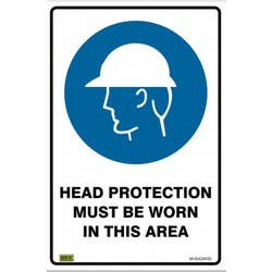SAFETY SIGN HARD HAT AREA 450X300