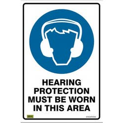 SAFETY SIGN HEARING PROTECTION 450X300