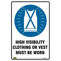 SAFETY SIGN HIGH VISIBILITY 450X300
