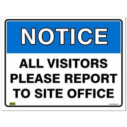 SAFETY SIGN ALL VISITORS REPORT 600X450