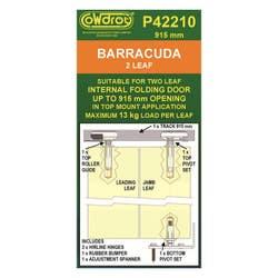 DOOR TRACK BI-FOLD BARRACUDA 915MM