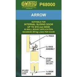 DOOR TRACK SLIDING ARROW 915MM