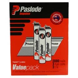 PASLODE 75 X 3.06 R/S VAL NAILS BOX 3000