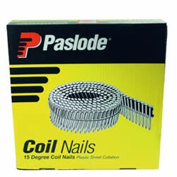 PASLODE COIL 15° 50MM RING SHANK FLAT HEAD HDG