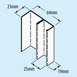 574-STUD 64MM E55 X 3000 SHAFTWALL
